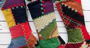 Vintage quilted christmas stockings, Country christmas stocking, Quilted christmas stocking, farmhou